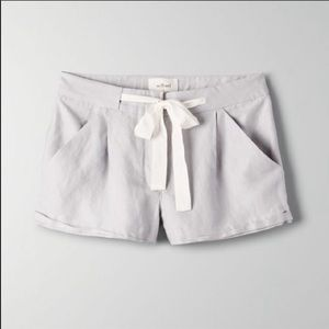 Aritzia Wilfred Tie Up Shorts